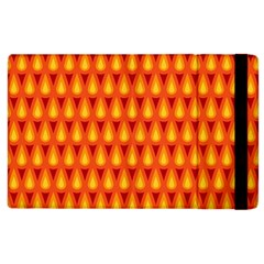 Simple Minimal Flame Background Apple iPad 3/4 Flip Case