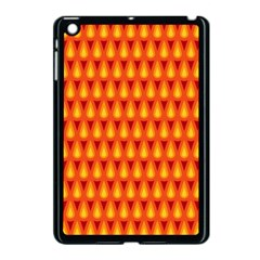 Simple Minimal Flame Background Apple Ipad Mini Case (black)