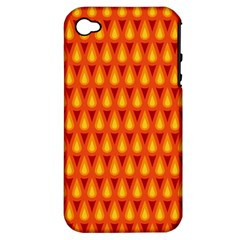 Simple Minimal Flame Background Apple iPhone 4/4S Hardshell Case (PC+Silicone)
