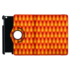 Simple Minimal Flame Background Apple iPad 2 Flip 360 Case