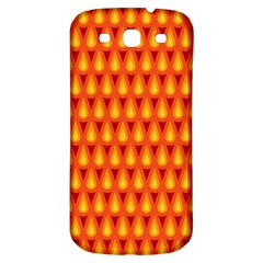 Simple Minimal Flame Background Samsung Galaxy S3 S III Classic Hardshell Back Case