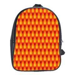 Simple Minimal Flame Background School Bags (XL)