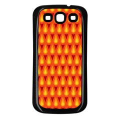 Simple Minimal Flame Background Samsung Galaxy S3 Back Case (Black)