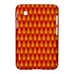 Simple Minimal Flame Background Samsung Galaxy Tab 2 (7 ) P3100 Hardshell Case
