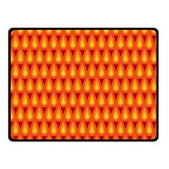 Simple Minimal Flame Background Double Sided Fleece Blanket (Small)