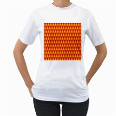 Simple Minimal Flame Background Women s T-Shirt (White)