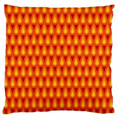 Simple Minimal Flame Background Standard Flano Cushion Case (One Side)