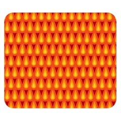 Simple Minimal Flame Background Double Sided Flano Blanket (small)
