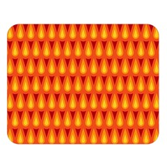 Simple Minimal Flame Background Double Sided Flano Blanket (large)