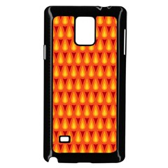 Simple Minimal Flame Background Samsung Galaxy Note 4 Case (Black)