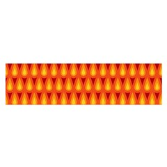 Simple Minimal Flame Background Satin Scarf (Oblong)