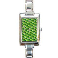 Dragon Scale Scales Pattern Rectangle Italian Charm Watch