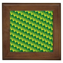 Dragon Scale Scales Pattern Framed Tiles