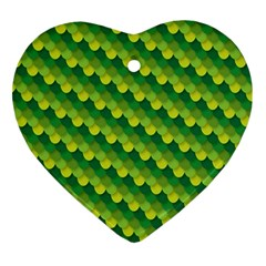 Dragon Scale Scales Pattern Ornament (heart)
