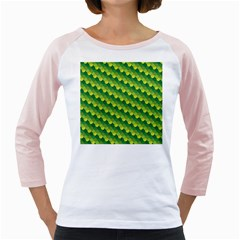Dragon Scale Scales Pattern Girly Raglans