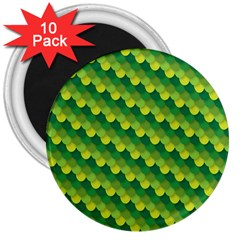 Dragon Scale Scales Pattern 3  Magnets (10 pack)