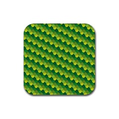 Dragon Scale Scales Pattern Rubber Square Coaster (4 pack)