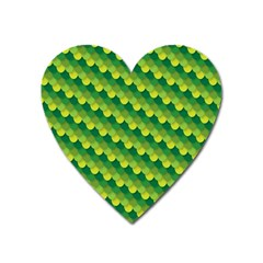 Dragon Scale Scales Pattern Heart Magnet