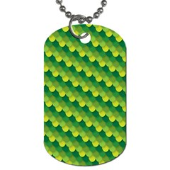 Dragon Scale Scales Pattern Dog Tag (one Side)