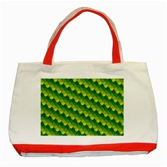 Dragon Scale Scales Pattern Classic Tote Bag (Red)