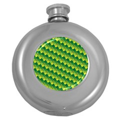 Dragon Scale Scales Pattern Round Hip Flask (5 Oz)
