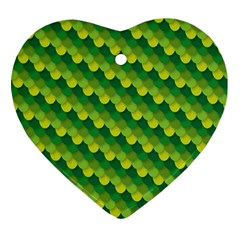 Dragon Scale Scales Pattern Heart Ornament (Two Sides)