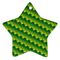Dragon Scale Scales Pattern Star Ornament (Two Sides)