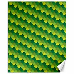 Dragon Scale Scales Pattern Canvas 11  x 14