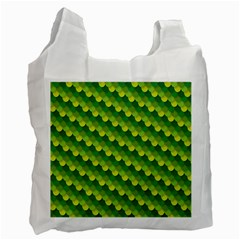 Dragon Scale Scales Pattern Recycle Bag (two Side)