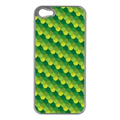 Dragon Scale Scales Pattern Apple Iphone 5 Case (silver)