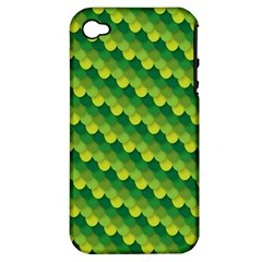 Dragon Scale Scales Pattern Apple Iphone 4/4s Hardshell Case (pc+silicone)
