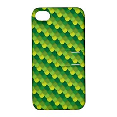 Dragon Scale Scales Pattern Apple iPhone 4/4S Hardshell Case with Stand