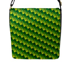 Dragon Scale Scales Pattern Flap Messenger Bag (l)