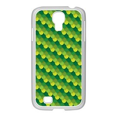 Dragon Scale Scales Pattern Samsung GALAXY S4 I9500/ I9505 Case (White)
