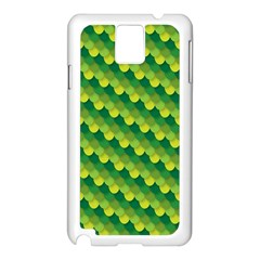 Dragon Scale Scales Pattern Samsung Galaxy Note 3 N9005 Case (White)
