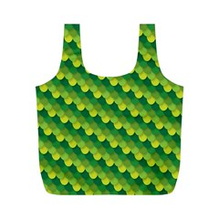 Dragon Scale Scales Pattern Full Print Recycle Bags (m)