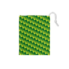 Dragon Scale Scales Pattern Drawstring Pouches (Small)
