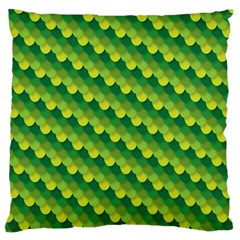 Dragon Scale Scales Pattern Large Flano Cushion Case (One Side)