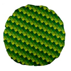 Dragon Scale Scales Pattern Large 18  Premium Flano Round Cushions