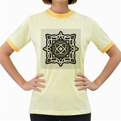 Celtic Draw Drawing Hand Draw Women s Fitted Ringer T-Shirts