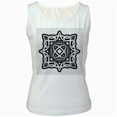 Celtic Draw Drawing Hand Draw Women s White Tank Top