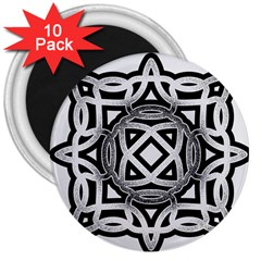 Celtic Draw Drawing Hand Draw 3  Magnets (10 pack)