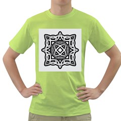 Celtic Draw Drawing Hand Draw Green T Shirt
