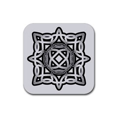 Celtic Draw Drawing Hand Draw Rubber Square Coaster (4 pack)
