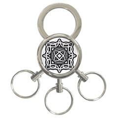 Celtic Draw Drawing Hand Draw 3-Ring Key Chains