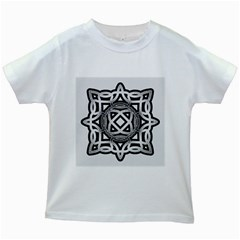 Celtic Draw Drawing Hand Draw Kids White T Shirts
