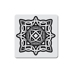 Celtic Draw Drawing Hand Draw Square Magnet