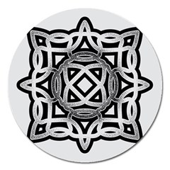 Celtic Draw Drawing Hand Draw Magnet 5  (round)