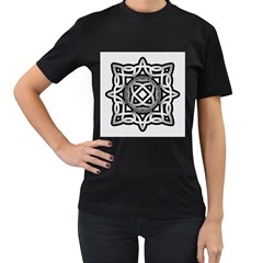 Celtic Draw Drawing Hand Draw Women s T Shirt (black) (two Sided)
