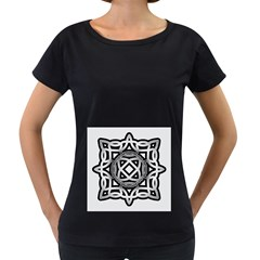 Celtic Draw Drawing Hand Draw Women s Loose Fit T Shirt (black)